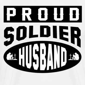 PROUD SOLDIER HUSBAND - Men's Premium T-Shirt