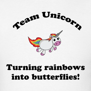 Team Unicorn Rainbows - Mens T Black Font - Men's T-Shirt