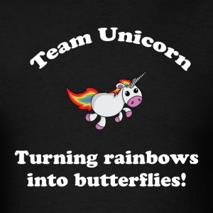Team Unicorn Rainbows - Mens T White Font - Men's T-Shirt