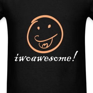 Iwoawesome! We love Iowa! funny tshirt - Men's T-Shirt