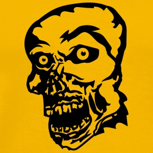zombie face head undead horror monster halloween T-Shirts - Men's Premium T-Shirt