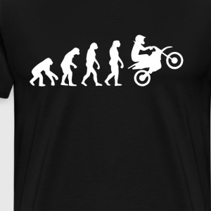 Dirt Bike Evolution T-Shirt T-Shirts - Men's Premium T-Shirt