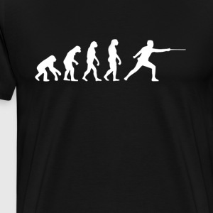 Fencing Evolution T-Shirt T-Shirts - Men's Premium T-Shirt