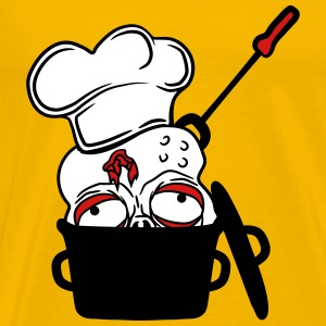 zombie food cook cooking chef, master grill head p T-Shirts - Men's Premium T-Shirt