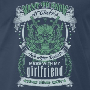 Don't mess with my girlfriend - Men's Premium T-Shirt