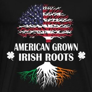 American grown Irisfh roots - Men's Premium T-Shirt