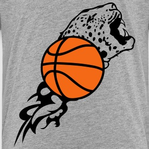 tiger flame basketball ball 1 Kids' Shirts - Kids' Premium T-Shirt