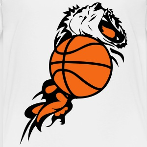 flame lion basketball ball 1 Kids' Shirts - Kids' Premium T-Shirt