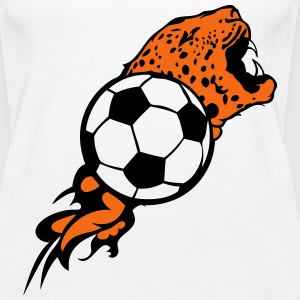 soccer ball flame tiger 1 Tanks - Women's Premium Tank Top