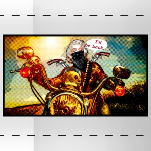 Biker girl - Panoramic Mug
