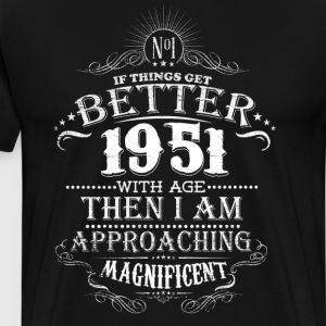 Vintage Born in 1951 65 Years Old Birthday T-Shirts - Men's Premium T-Shirt