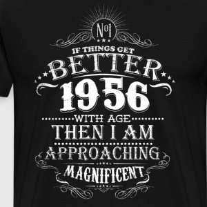Vintage Born in 1956 60 Years Old Birthday T-Shirts - Men's Premium T-Shirt
