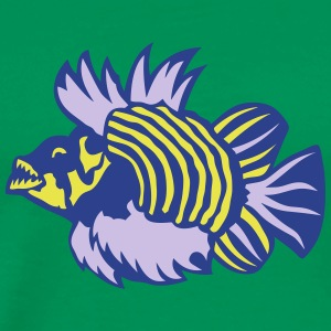 fish exotic cartoon villain 2 T-Shirts - Men's Premium T-Shirt