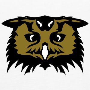 owl face cartoon 1 Tanks - Women's Premium Tank Top