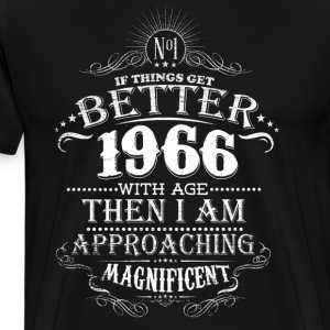 Vintage Born in 1966 50 Years Old Birthday T-Shirts - Men's Premium T-Shirt