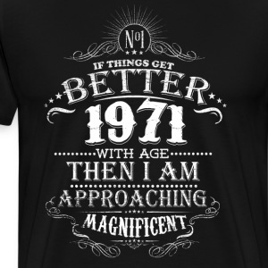 Vintage Born in 1971 45 Years Old Birthday T-Shirts - Men's Premium T-Shirt