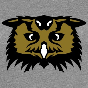 owl face cartoon 1 T-Shirts - Women's Premium T-Shirt