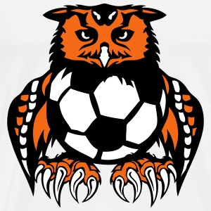 soccer club ball logo owl T-Shirts - Men's Premium T-Shirt