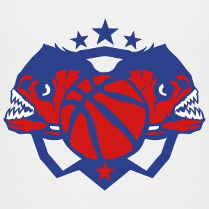 basketball logo piranhas piranha club Kids' Shirts - Kids' Premium T-Shirt
