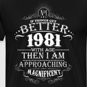 Vintage Born in 1961 35  Years Old Birthday T-Shirts - Men's Premium T-Shirt