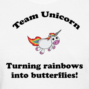 Team Unicorn Rainbows - Womens T Black Font - Women's T-Shirt