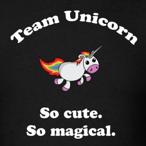 Team Unicorn So Cute - Mens T White Font - Men's T-Shirt
