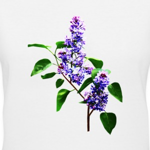 Spray of Lilacs - Women's V-Neck T-Shirt