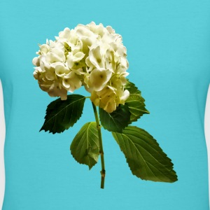 Single White Hydrangea - Women's V-Neck T-Shirt