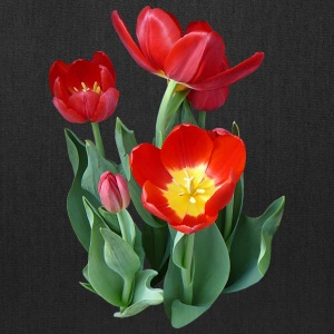 Bright Red Tulips Bags & backpacks - Tote Bag