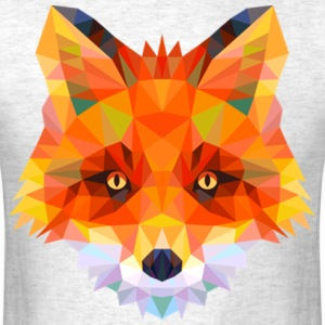 geometric fox - Men's T-Shirt