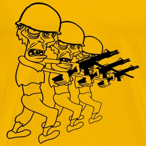 soldiers team party crew marching machine gun mili T-Shirts - Men's Premium T-Shirt