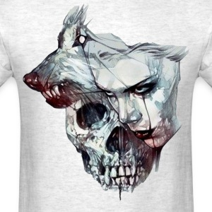 Wolf, Skull and Wolman - Men's T-Shirt