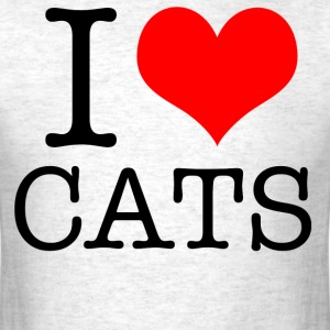 I love Cats - Men's T-Shirt