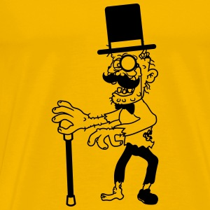 sir mr cylinder stock fly suit hat mustache mustac T-Shirts - Men's Premium T-Shirt