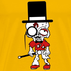 sir mr gentlemen cylindrical hat monokel glasses m T-Shirts - Men's Premium T-Shirt