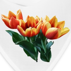 Three Orange And Red Tulips Caps - Bandana