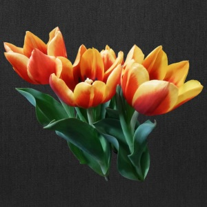 Three Orange And Red Tulips Bags & backpacks - Tote Bag