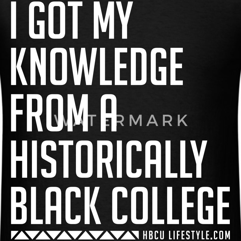 HBCU Knowledge - Men's Ivory and Black T-shirt - Men's T-Shirt
