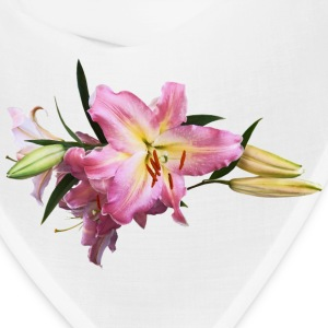 Lovely Pink Lilies Caps - Bandana