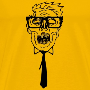 ties nerd geek nerd freak hornbrille pimple clasp  T-Shirts - Men's Premium T-Shirt