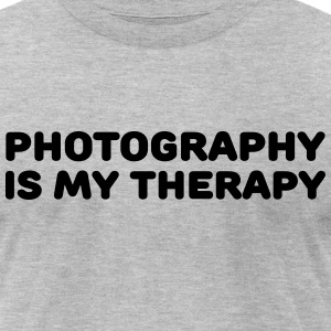 Photography is my therapy T-Shirts - Men's T-Shirt by American Apparel