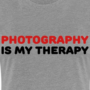 Photography is my therapy Women's T-Shirts - Women's Premium T-Shirt