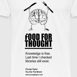 Food For Thought Black Print - Men's Premium T-Shirt