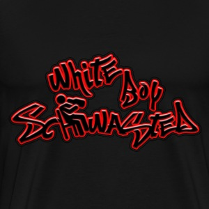 White Boy Schwasted T-Shirts - Men's Premium T-Shirt