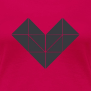 Polygon Heart - Women's Premium T-Shirt