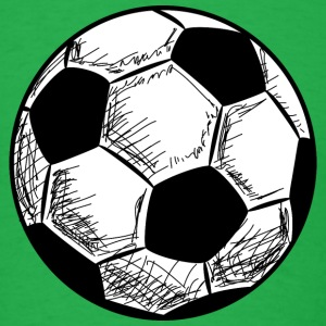 Soccer Football Ball Hand Drawn T-Shirts - Men's T-Shirt