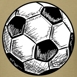 Soccer Ball Hand Drawn T-Shirts - Men's T-Shirt