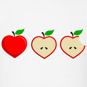 Apple Heart Half T-Shirts - Men's T-Shirt