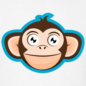 Happy Monkey Cartoon Head T-Shirts - Men's T-Shirt