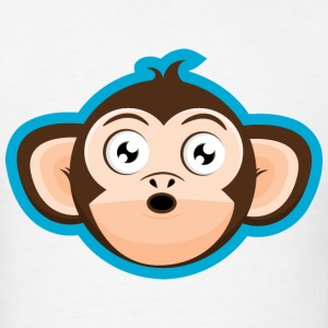 Surprised Monkey Cartoon Head T-Shirts - Men's T-Shirt